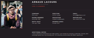 Arnaud Lacours' WARE Developer Profile